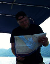 Todd Roll plots our way forward on Lake Pepin charts
